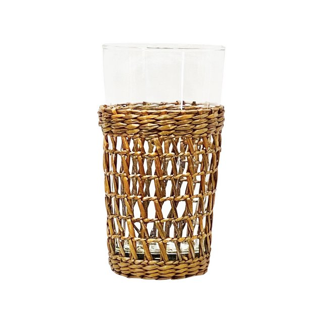 Sea Grass Wrapped Tumbler-Tall