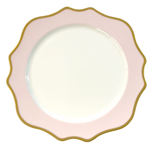 Anika Pink Porcelain Charger