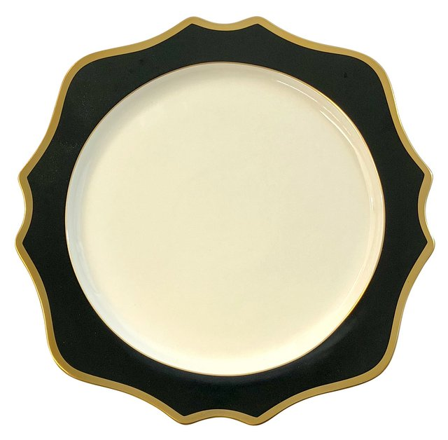 Anika Black Porcelain Charger