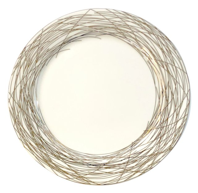 Metallic Nest Porcelain Charger