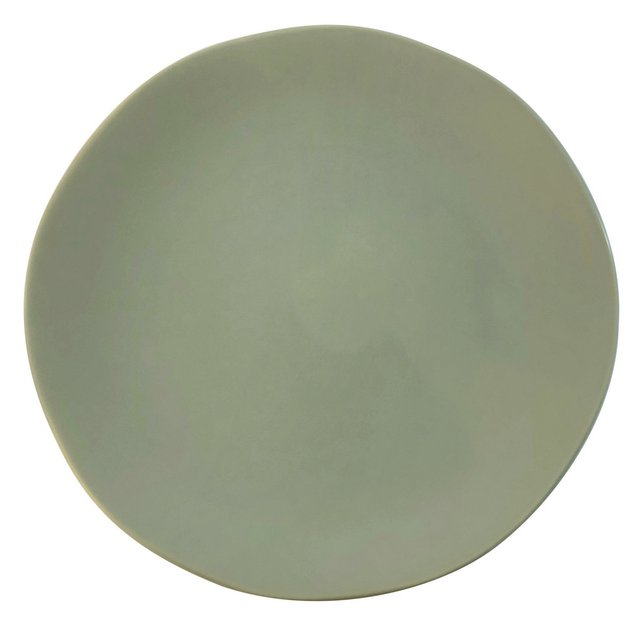 Matte Grey Stoneware Charger