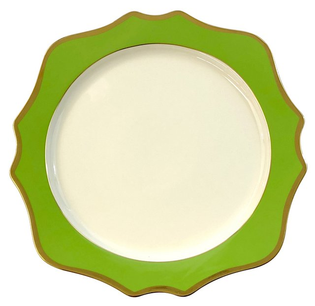 Anika Green Porcelain Charger
