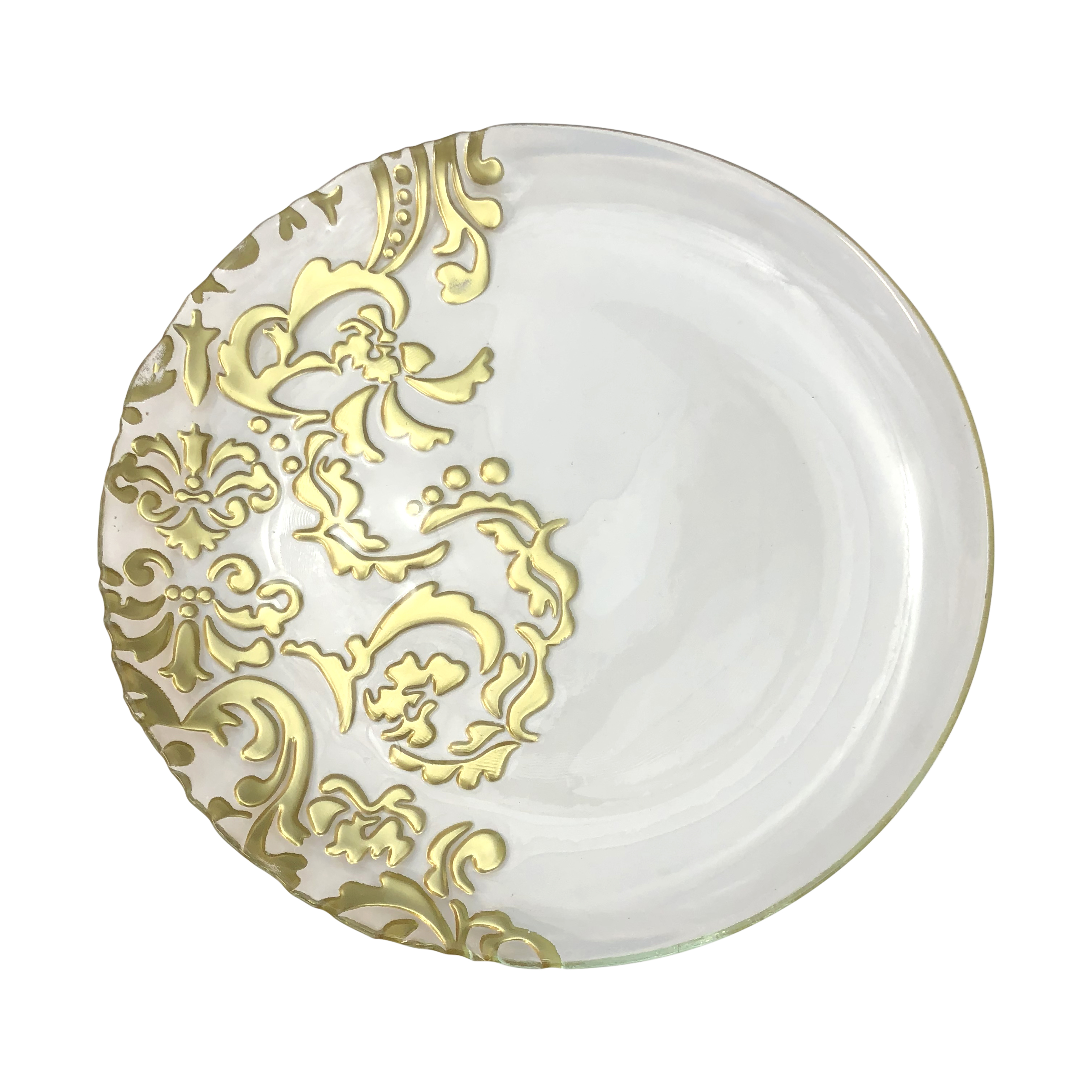 Gold/Glass 11inch Face Plate