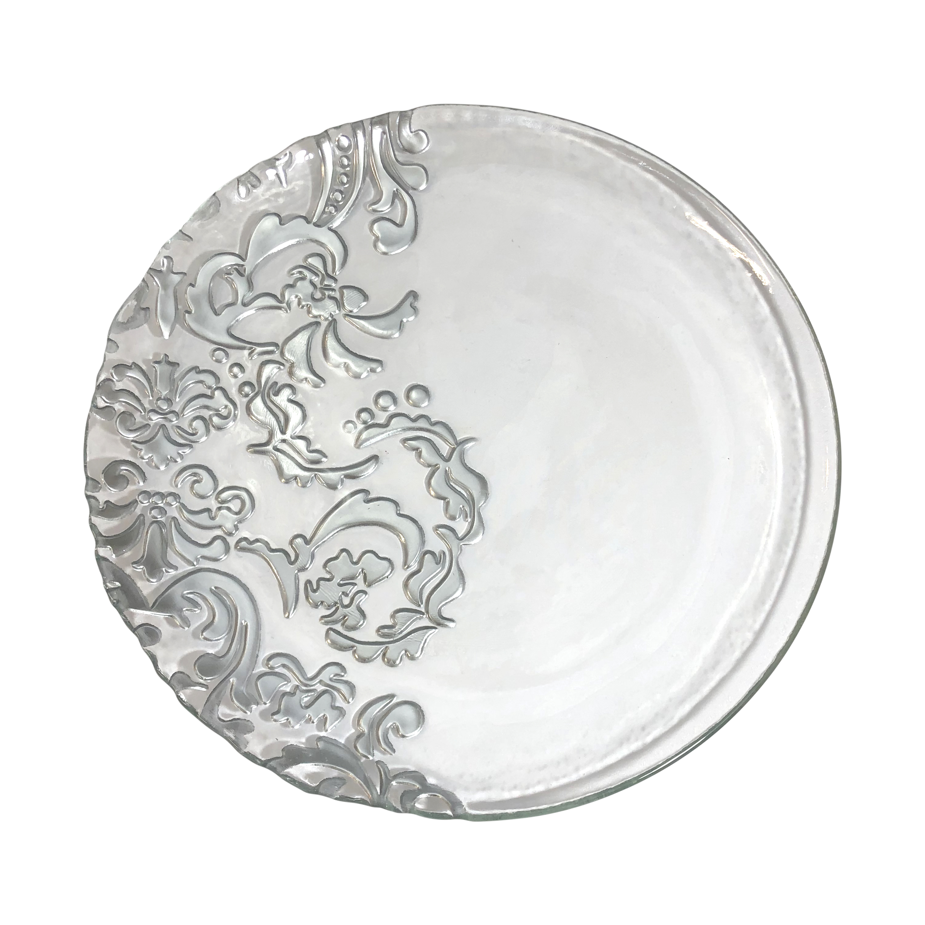 Silver/Glass 11 inch Face Plate