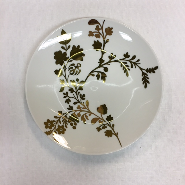 Gold leaf accent plate