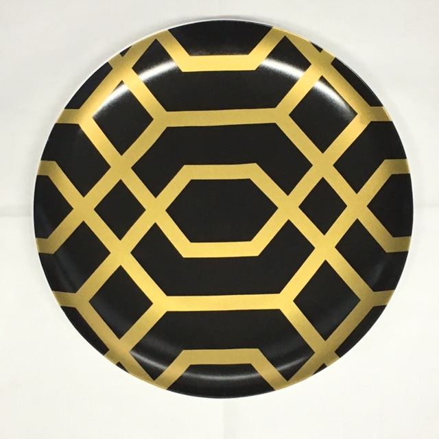 Black & Gold accent plate