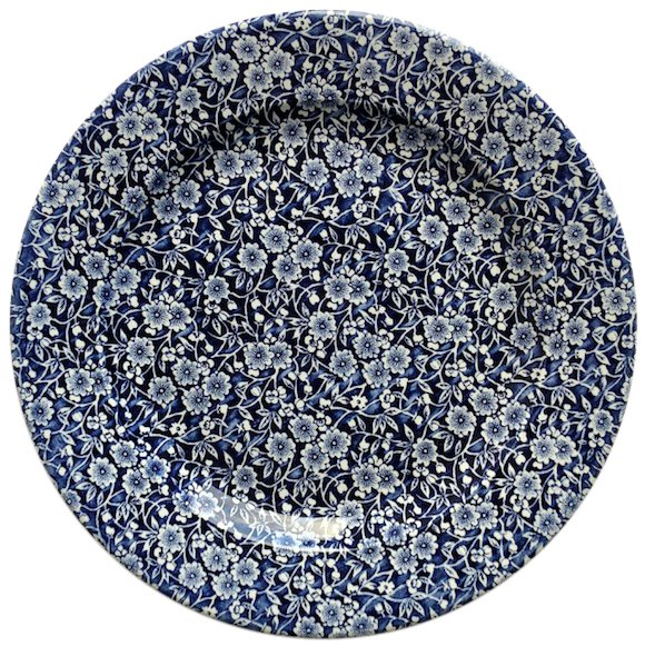 Cottage Blue Porcelain Charger