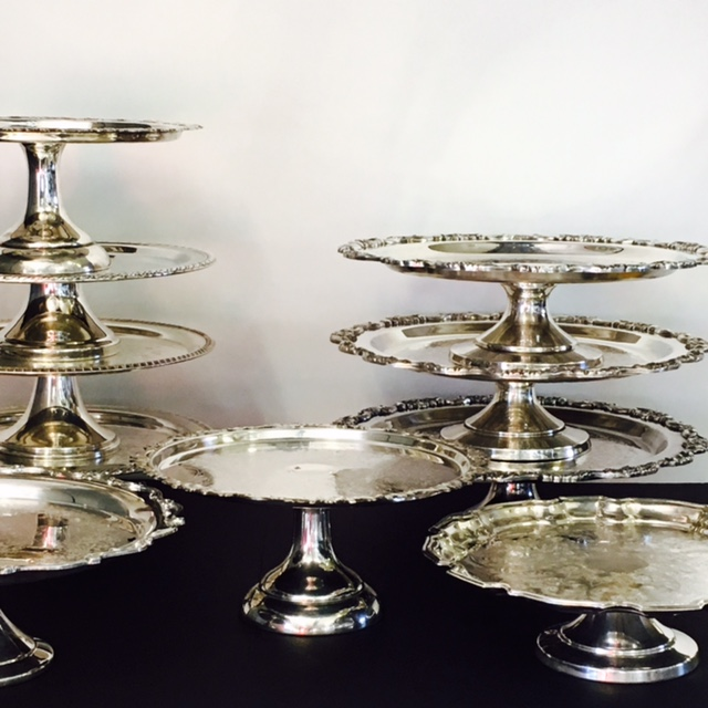 Silver Cake Stands 12+